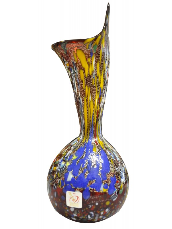 Red Murano glass vase VV10