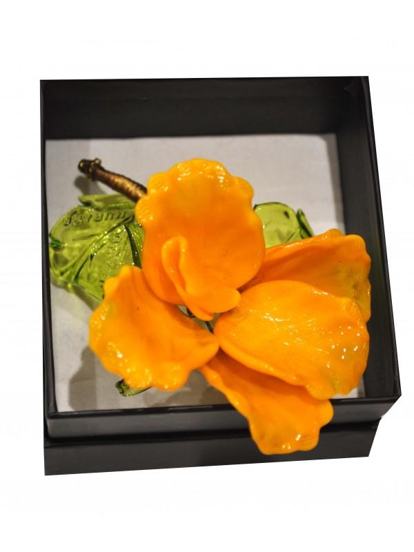 Murano Glass Box Yellow Rose MGRR03