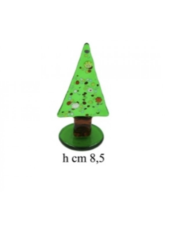 Murano Glass  Small Green Christmas tree