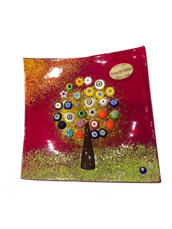 Murano Glass Tree of Life Plate PL0010