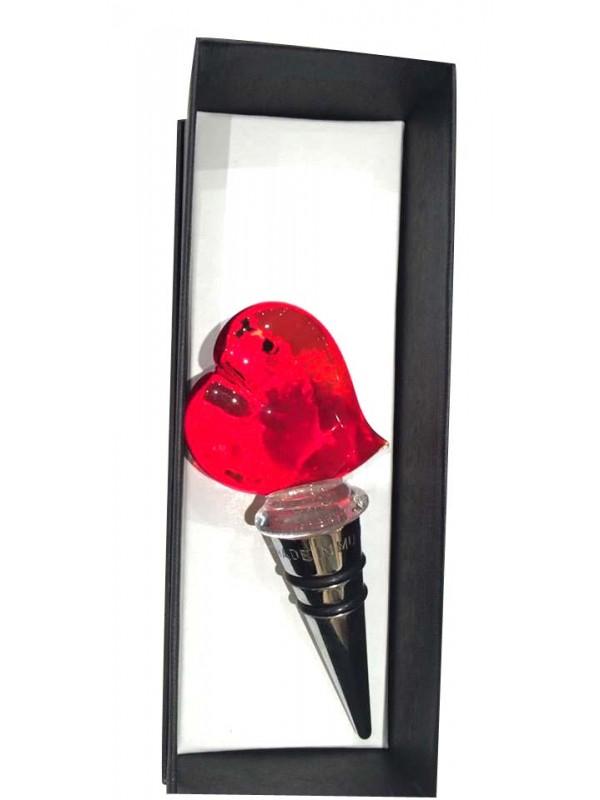 Murano Glass Heart  Bottlestopper