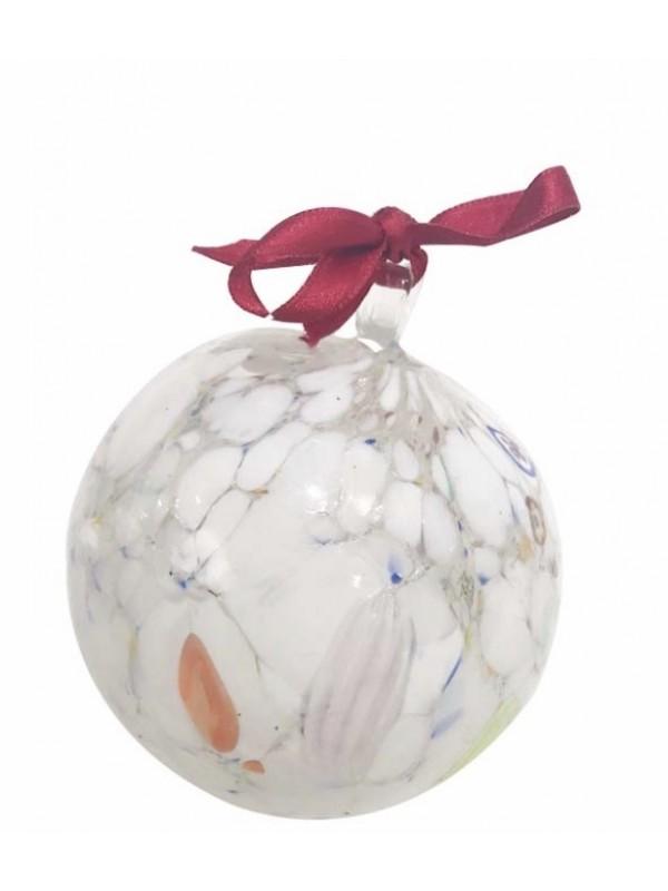 Murano Glass White Christmas Ball