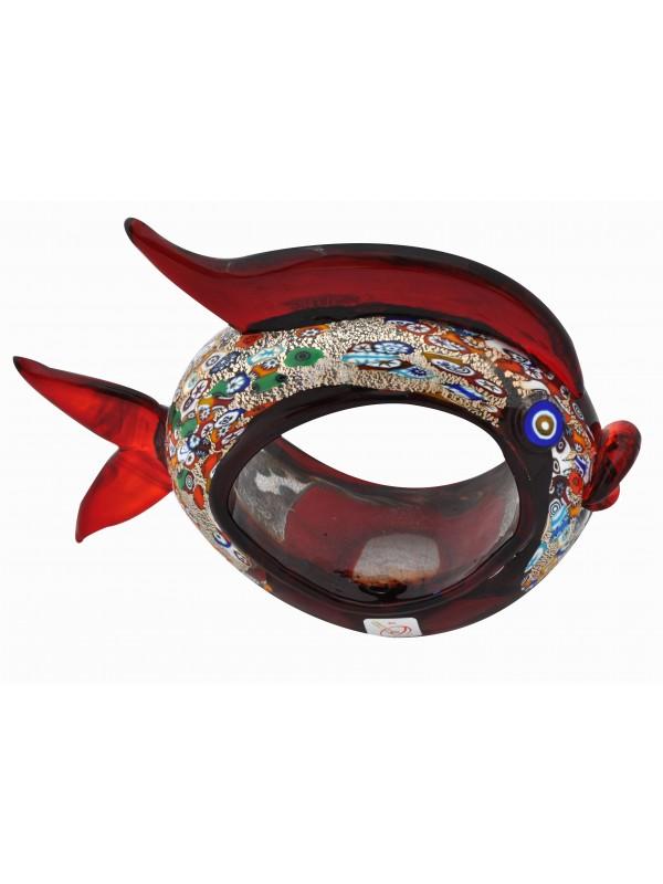 Murano Glass Red Fish AA10