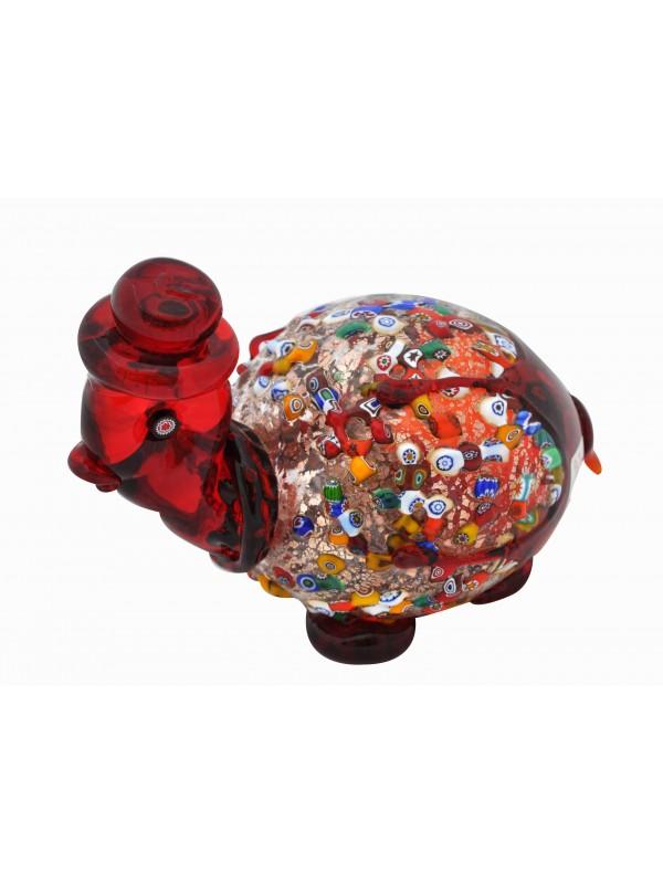 Murano Glass Red Turtle AA11