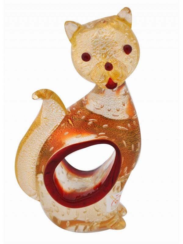 Murano Glass Sitting Cat AA12