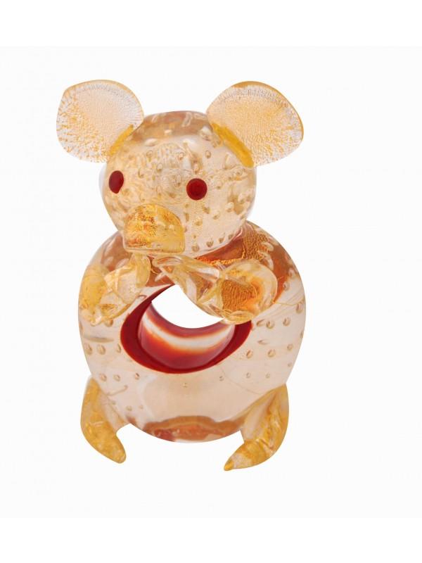 Murano Glass Sitting Mouse AA14