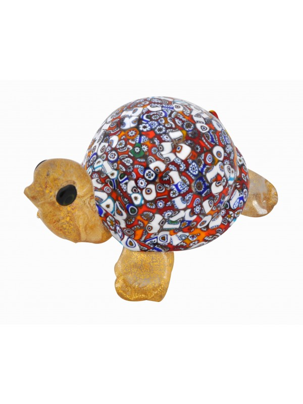 Gold Murano Glass turtle AA19