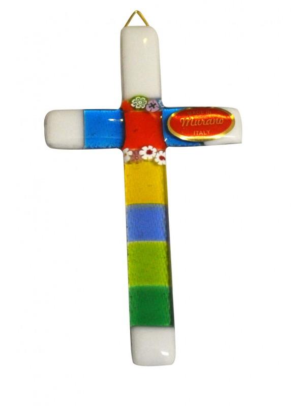 Small Murano Glass Cross CR004