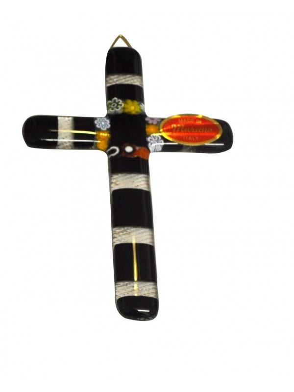 Small Murano Glass Cross CR005