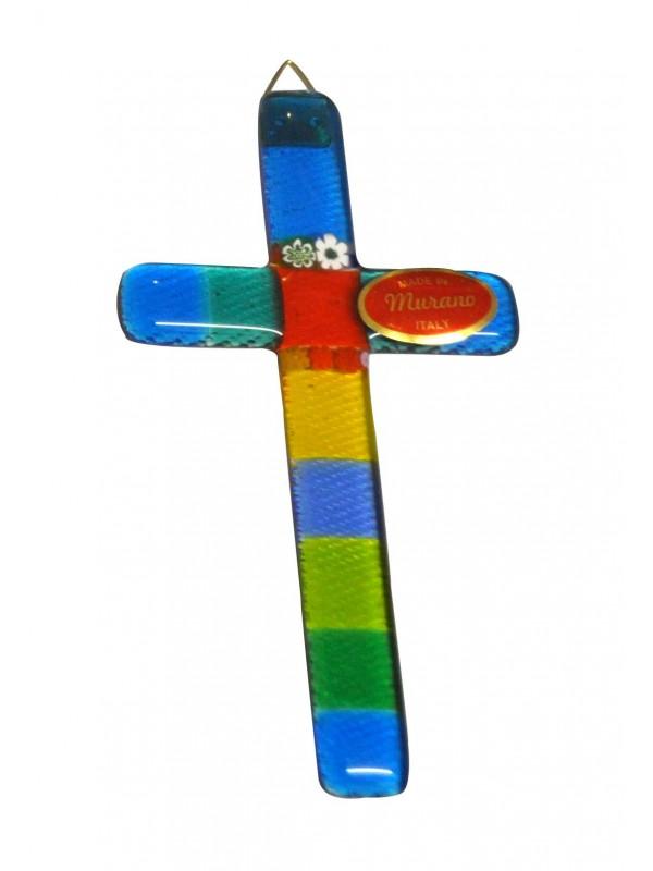 Small Murano Glass Cross CR006