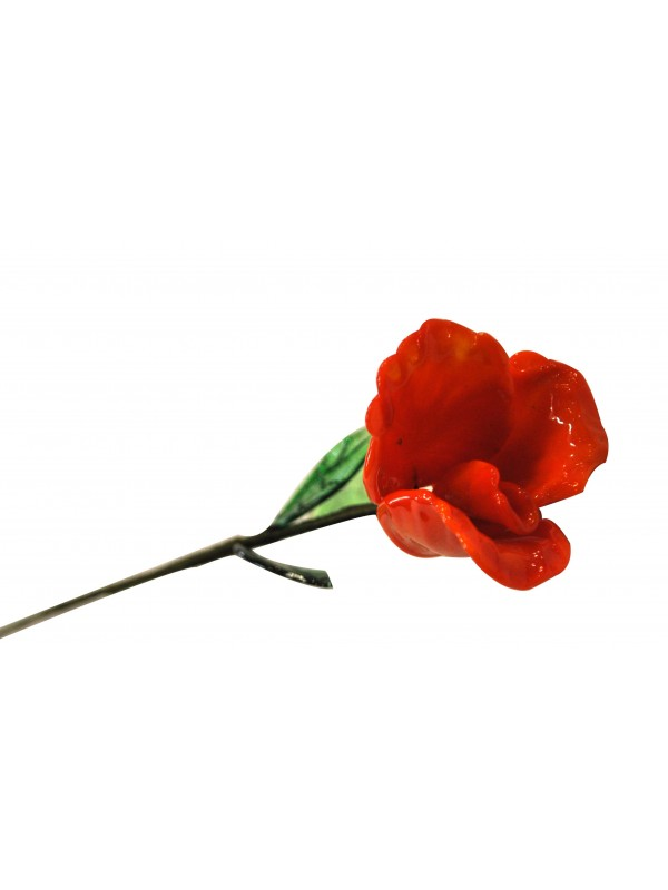 Stunning murano glass  rose RR006