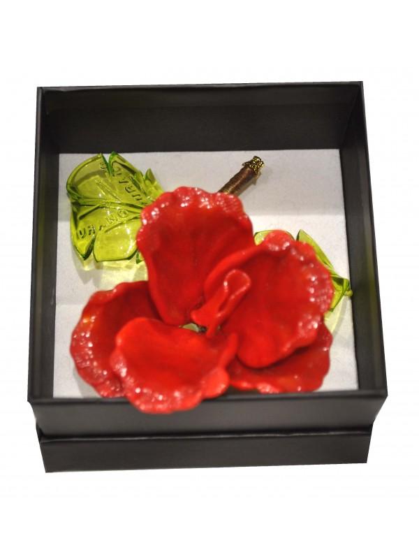 Murano Glass Box Red Rose MGRR01