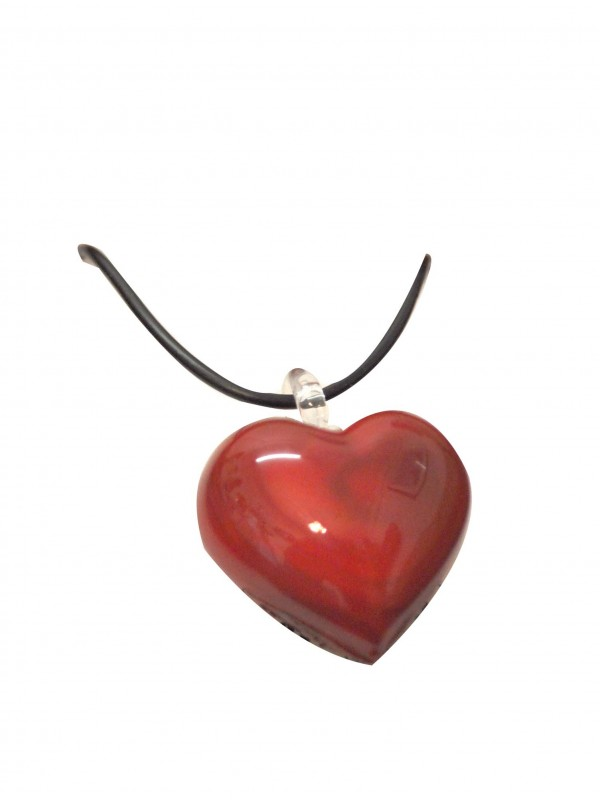 Stunning Murano Glass Heart Necklace Gio001