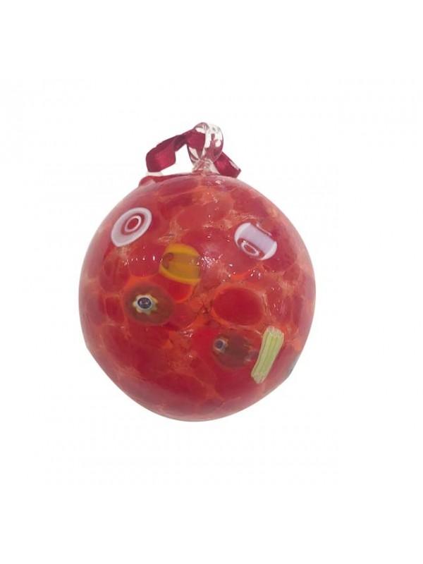 Murano Glass Red Christmas Ball