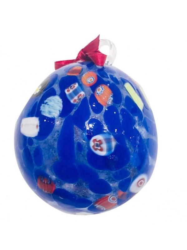 Murano Glass Dark blue Christmas Ball
