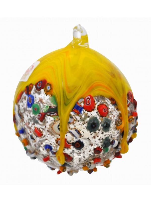 Murano Glass Yellow Christmas Tree Ball PP19