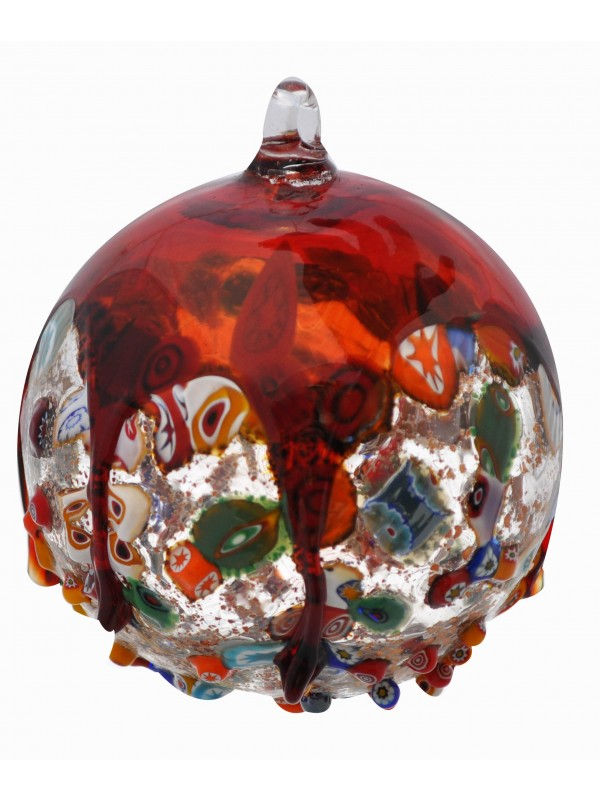 Murano Glass Red Christmas Tree Ball PP21