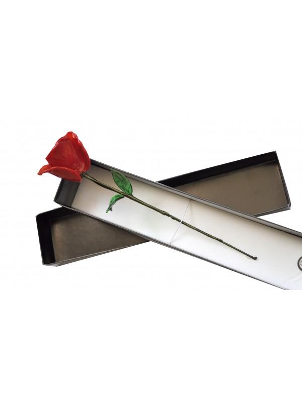 Murano Glass Red Rose RR01