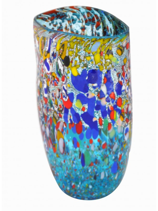 Small Murano Glass Blue Vase VV04