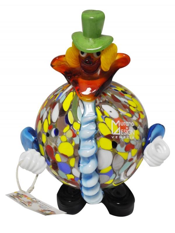 Clown in vetro di Murano MGC0010